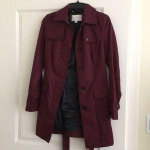 Burgundy Maroon Trench Coat